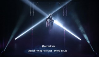 Solo Aerial Flying Pole Act at the Hong Kong Academy of Performing Arts