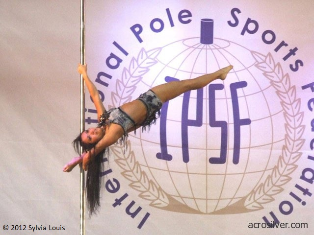 Sylvia's 2nd pole competition was the 1st World Pole Sport Championship in London, England, where she was thrilled to represent Canada.
