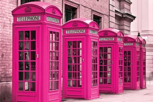 pink telephones