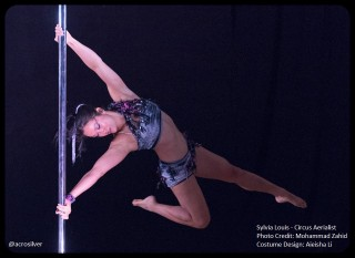 Performing at the 2015 BC Pole Fitness Championship, where I won 1st place in the Pro Division.